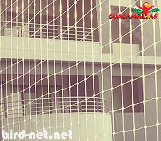 Bird barrier netting is used in urban areas to prevent these pesky birds to access and soil balconies